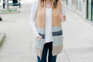 Long Sweater Vest Outfit