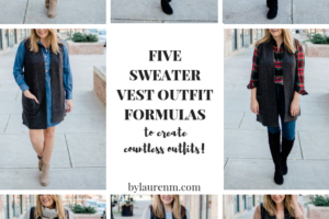 Five Sweater Vest Outfits