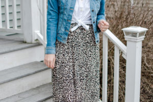 Five Leopard Midi Skirt Outfits