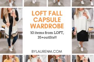Loft Fall Capsule Wardrobe + Try On