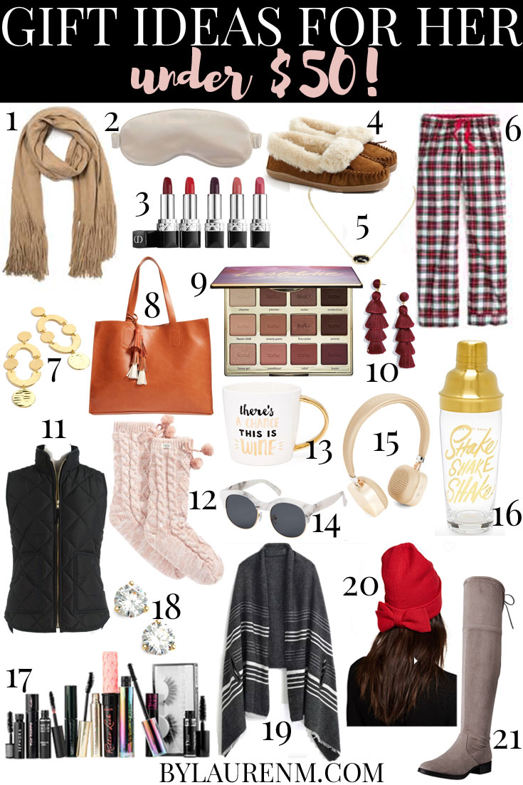 Gift Ideas Under 50 The Best For Her Dollars Bylaurenm