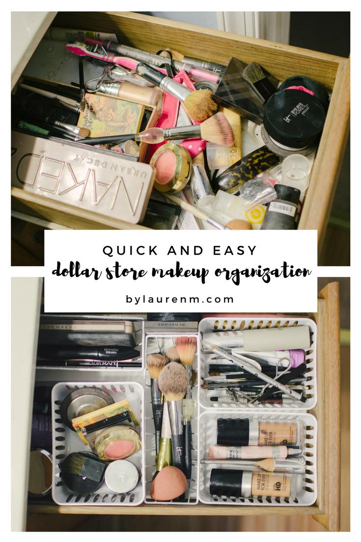 Dollar Store Makeup Drawer Organization Diy By Lauren M