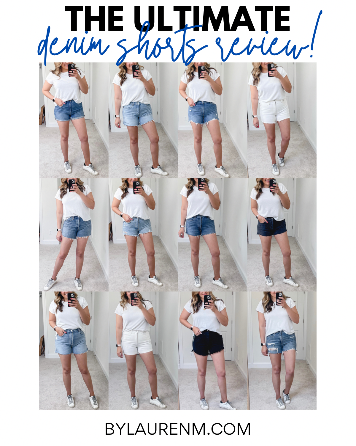 Virginia blogger, Lauren Dix, tries on over 15 pairs of denim shorts! The best denim shorts reviewed for fit, style, and comfort!