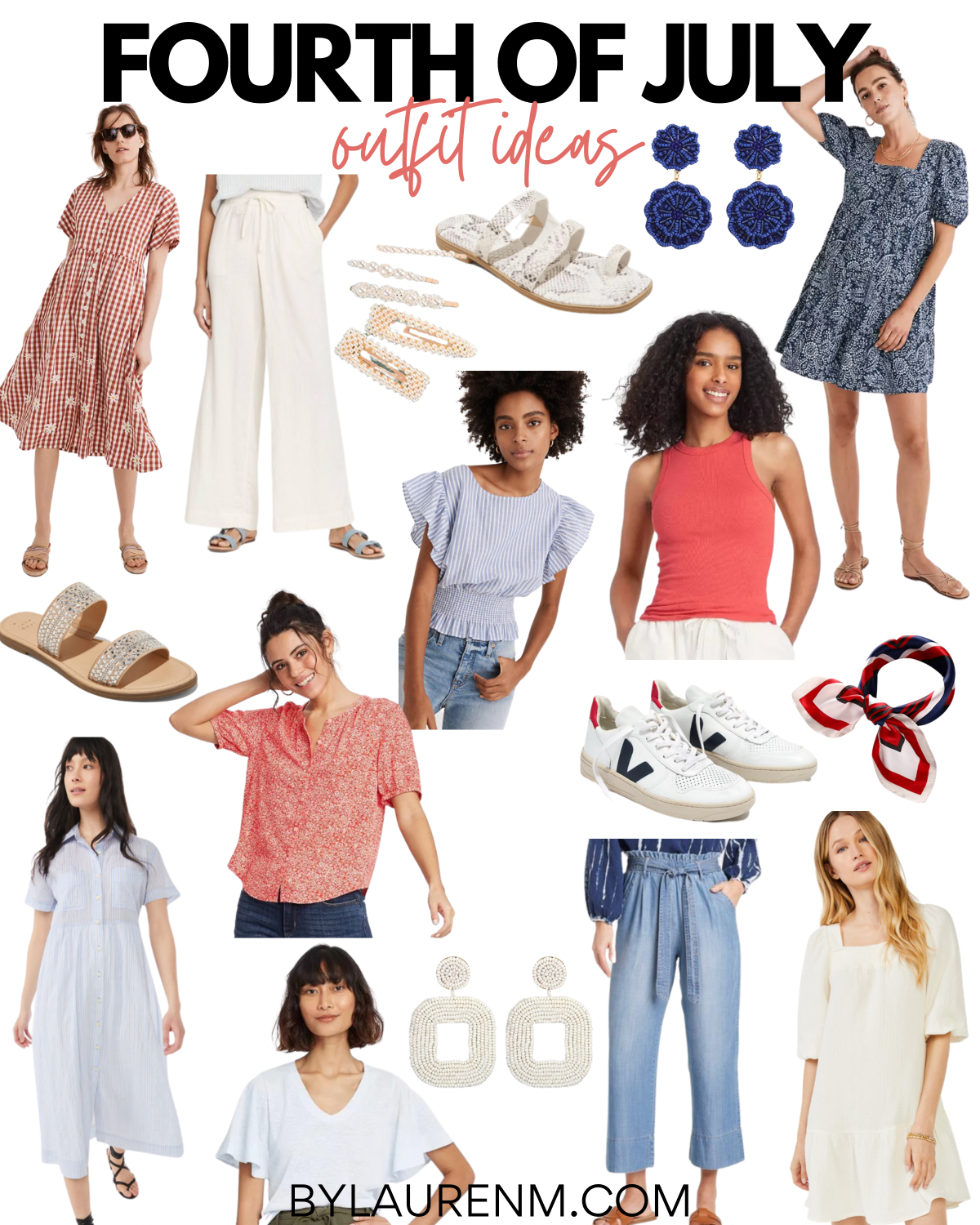 Virginia blogger, Lauren Dix, shares Fourth of July outfits. 4th of July outfit inspiration!