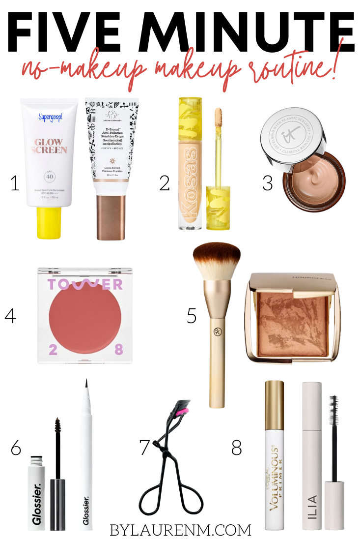 Virginia blogger, Lauren Dix, shares her easy five minute no makeup makeup look. This foundation free makeup routine is perfect for everyday!