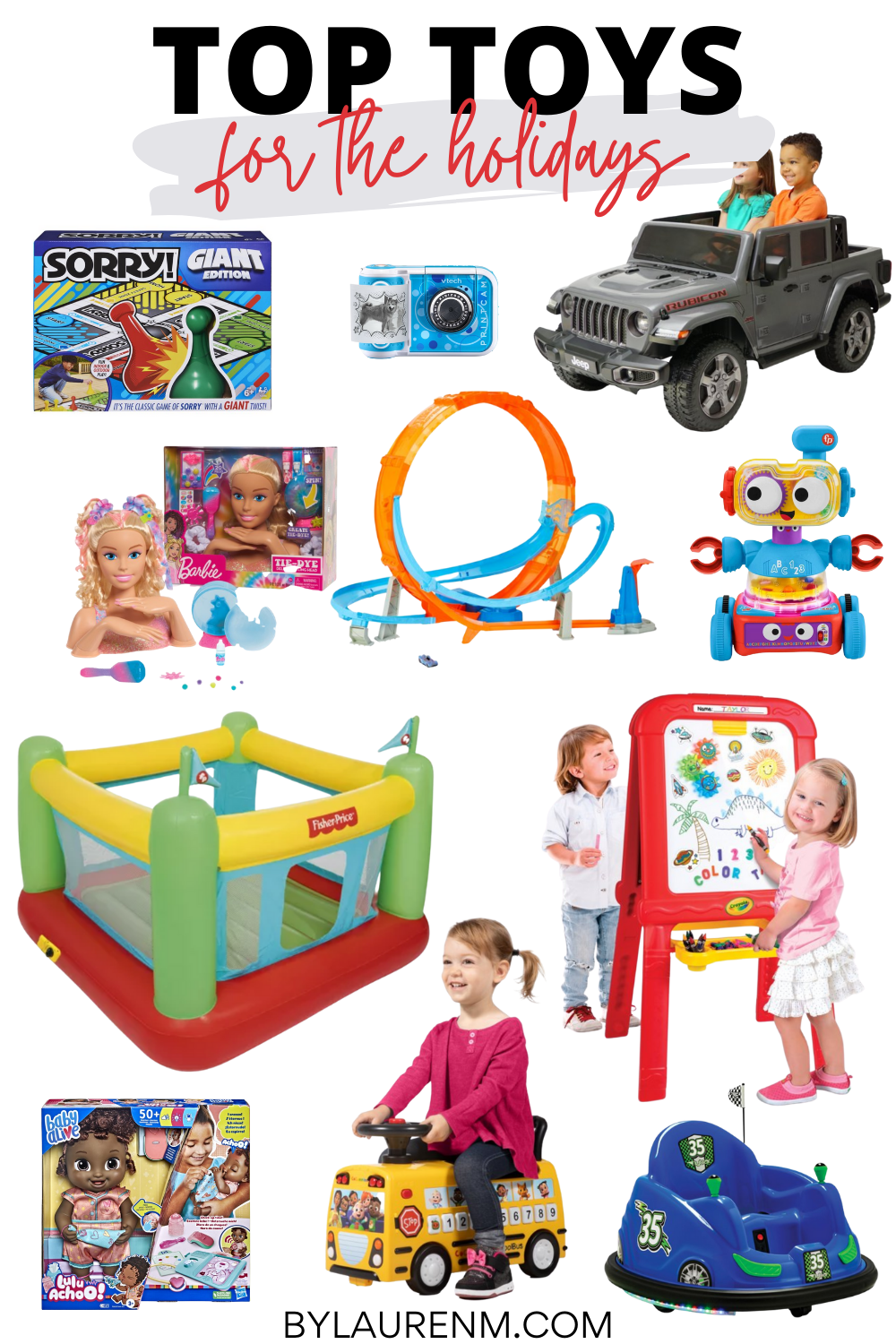 Virginia blogger, Lauren Dix, shares the top toys for the holidays rated by kids! Toy gift guide for ages 2-8!