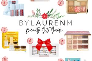Virginia blogger, Lauren Dix, shares her beauty gift guide with over ten beauty gift ideas!