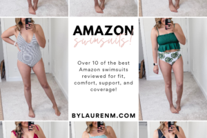 Virginia blogger, Lauren Dix, tries on over 10 Amazon bathing suits in the best amazon swimsuit try on haul! Amazon one pieces and two piece suits-- all under $35!